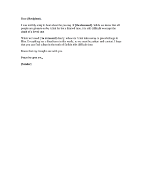muslim condolence letter condolence letter short and sweet cover letter plano - Short Email Cover Letter